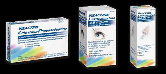 Tratamientos para la alergia Reactine